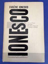 Eugene IONESCO ~ THREE PLAYS 1st 1958 Grove Press hardcover