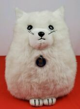 Vintage 1980 Dakin SILVIA Fat White Kitty Cat Plush 15""