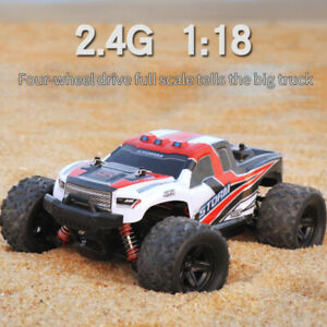 2.4G 4WD High Speed RC Car 1:18 Off-Road Truck Race Fast Remote Controlled Buggy