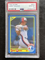 1990 Score LARRY WALKER RC Rookie Card HOF PSA 10 GEM MT POP 66