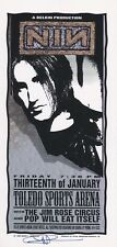 MINT & SIGNED Nine Inch Nails 1995 Toledo Arminski Handbill
