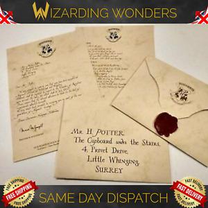 Harry Potter Personalised Acceptance Letter or London Studio Tour Letter Gift UK