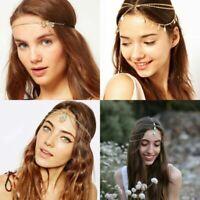 Hair Alloy Chain Head Head Piece Jewelry Band Jewelry Metal Women Retro Headband