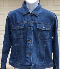 Telluride Clothing Blue Denim USA Flag Women's Jacket NWT 100% Cotton Sz 10 FS