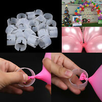 DIY 50X Wedding Party Christmas Ballon Clips Ring Arch Balloon Buckle Connectors