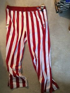 Indiana University Hoosiers Basketball Candy Stripes Warm Up Pants-Size 5XL Kent