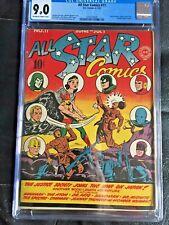 ALL STAR COMICS #11 CGC VF/NM 9.0; OW-W; Wonder Woman begins! WWII cvr!