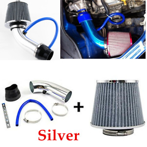 "Aluminum Alloy  3"" Cold Air Intake Systems Kit & Filter Universal For Car Truck"