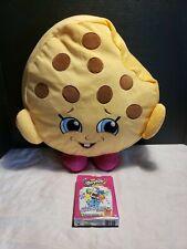 "shopkins 15"" plush kookie cookie and shopkins card game lot"