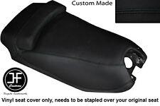 BLACK AUTOMOTIVE VINYL CUSTOM FITS HYOSUNG GRAND PRIX 125 DUAL SEAT COVER ONLY