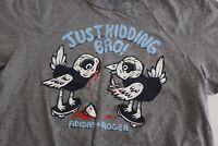 Adidas + Roger Just Kidding Bro Skateboard TEE T SHIRT Small S