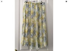 ZARA YELLOW FLORAL PLEATED SKIRT LINED  SZ FITS 8-10
