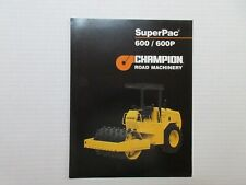 Champion SuperPac 600/600P Compaction Roller Color Literature