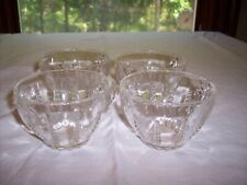 Set of 4 Federal Columbia Depression Glass Cups