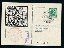 60078) Ballonpost FDA Fred Dolder Schlieren - Ratzenried BRD 30.8.53 > Schweiz