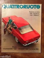 Quattroruote 117 settembre 1965 - Volkswagen 1300 e 1600, Peugeot 204,