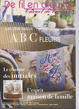 Magazine De Fil En Aiguille N°4 Carnet broderie  Point de croix  ABC V. Enginger