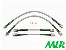 CITROEN SAXO VTS VTR STAINLESS STEEL BRAIDED BRAKE LINES HOSES PIPES KIT OR