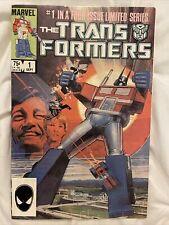 THE TRANSFORMERS #1 Marvel Comics 1984 Copper Age