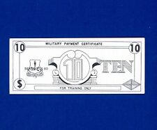 Mpc Training Money - $10 - Series Fds 60 - Uncirculated