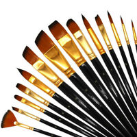 15 Pc Artist Paint Brushes Set - Art Painting Supplies Acrylic Oil Paintings