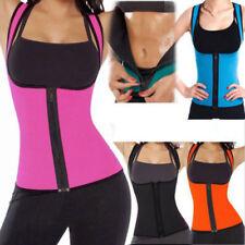 Sexy Lady Sweat Body Shaper Slimming Vest Thermo Neoprene Tops Trainer Zipper