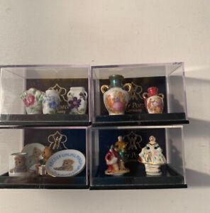 Reutter Porcelain Dolls House Miniatures Mixed Collection