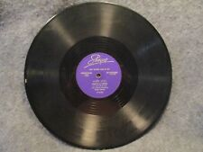"78 RPM 10"" Record Liberace Lullaby & Dark Eyes First National Bank Of Erie 103"