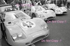 MATRA ms620 nella zona della fossa Le Mans 1966 foto 2