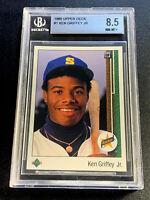KEN GRIFFEY JR 1989 UPPER DECK #1 STAR ROOKIE RC NM-MT+ BGS 8.5 MARINERS HOF (G)