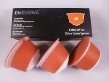 3CAPSULES FOR DOLCE GUSTO REFILLABLE REUSABLE COFFEE EMOHOME +TRACKING & MANUAL!