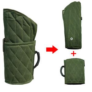 New Dog Bite Training Sleeve K9 Police Arm Protection Green Hemp Cotton Padding