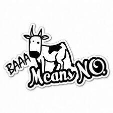 Baaa Means No Cow Sticker Aussie Car Flag 4x4 Funny Ute