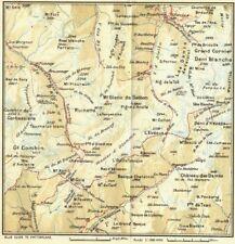 Spiez-interlaken 1923 Old Vintage Map Plan Chart Art Switzerland