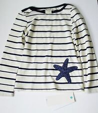 Roxy Girls Stripe Starfish Long Sleeve Knit Top Astra Aura Sz 5 - NWT