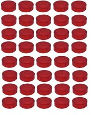 LEGO 40 Pieces Transparent Red Round Tile plate 1 x 1 NEW Part 98138