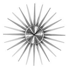 Design attraente Orologio da parete a sole ARGENTO faccia CUCINA CASA HOTEL IDEA REGALO