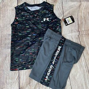 Under Armour Size 4 Multipixel Sleeveless Digital Outfit Set NEW