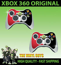 XBOX 360 CONTROLLER STICKER SKINS X 2 HARLEY QUINN RED BLACK PAD GRAPHICS
