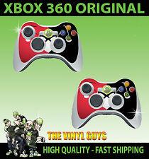 XBOX 360 Mando Pegatina Skins x 2 Harley Quinn rojo y negro Pad imágenes