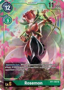 Rosemon BT1-082 SR Alternative Art Digimon Release Special Booster 1.0 M/NM