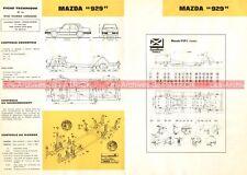 MAZDA 929 - 1985 : Fiche Technique Auto Carrosserie / Peinture