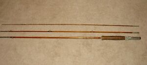VINTAGE MONTAGUE FLASH 3 PIECE BAMBOO FLY ROD GENUINE TOMKIN