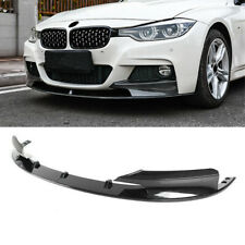 Car Front Bumper Spoiler Lip For 2012-2018 BMW F30 3 Series M Sport Carbon Fiber