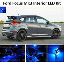 BLUE PREMIUM FORD FOCUS MK3 INTERIOR LED UPGRADE KIT SET XENON BULB LIGHTS