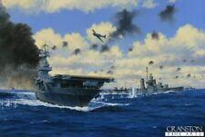 Naval ART CARTE POSTALE USS Yorktown, porte-avions bataille de Midway