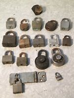 Lot Of 16 Vintage Misc. Padlocks Slaymaker Shurloc Corbin Master Yale No Keys