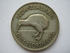 New Zealand 1934 silver Florin F