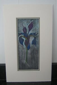 Pastel Drawing Flower by Clark Gibson - Art Work - unsigned