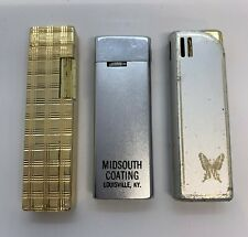 Vintage LIGHTERs - Advertising - One is a JJJ - Parts or Repair - Lot of 3